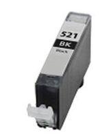 Tintenpatrone passend für Canon 2933B001 CLI-521BK ohne Chip schwarz