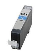 Tintenpatrone passend für Canon 2934B001 CLI-521C ohne Chip cyan