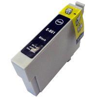 Tintenpatrone passend für Epson C13T08014010 T0801 schwarz